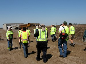 Our group touring the Vacaville composting operations.