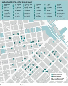 SF downtown POPOS map.