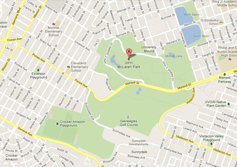 Captivating Google Map Of McLaren Park