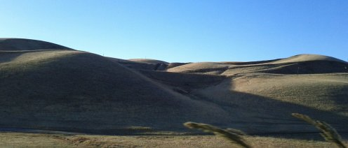 Hills along the Altamont Pass...