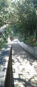 Newly renovated paths make a civilized walk from the southern entrance.