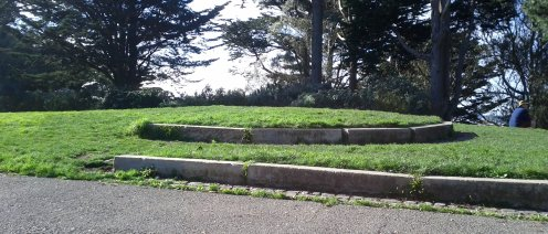 The small patch of terraced lawn at the apex of BVP.