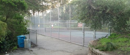 The tennis courts in use on the eastern side of BVP.