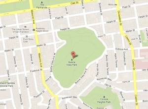 A Google map screenshot of Buena Vista Park