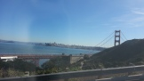 Getting off the bridge and winding up into the headlands.