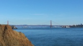 Alcatraz visible under the bridge!