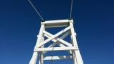 Wooden bridge tower.