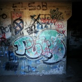 Graffiti under the battery.