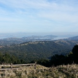 Looking to the East. Below is Richardson Bay and Mill Valley.