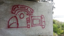 Aztec-y graffito.