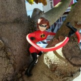 Action figure in a street tree? That's a Stray Angela.