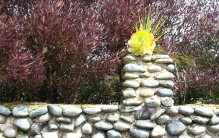 The stone wall at Laguna Honda Hospital.