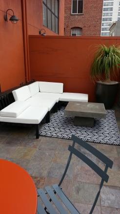 The furnished corner.