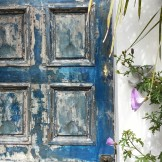 Gorgeous blue door or Graystone Terrace.