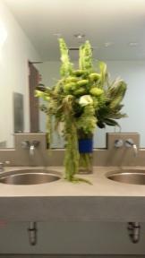 The arrangement for the men's room.