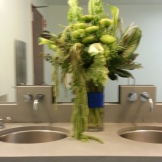 The arrangement for the men's room.