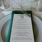 Place settings each had a tillandsia.