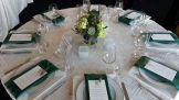 Round centerpieces on round tables, and...
