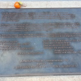 Plaque commemorating genocide in Armenia, and dedicating the cross.