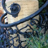 Detail of beautiful ironwork on Graystone Terrace.