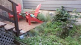 Before: A low deck took up half the yard, while only providing enough space for two chairs.